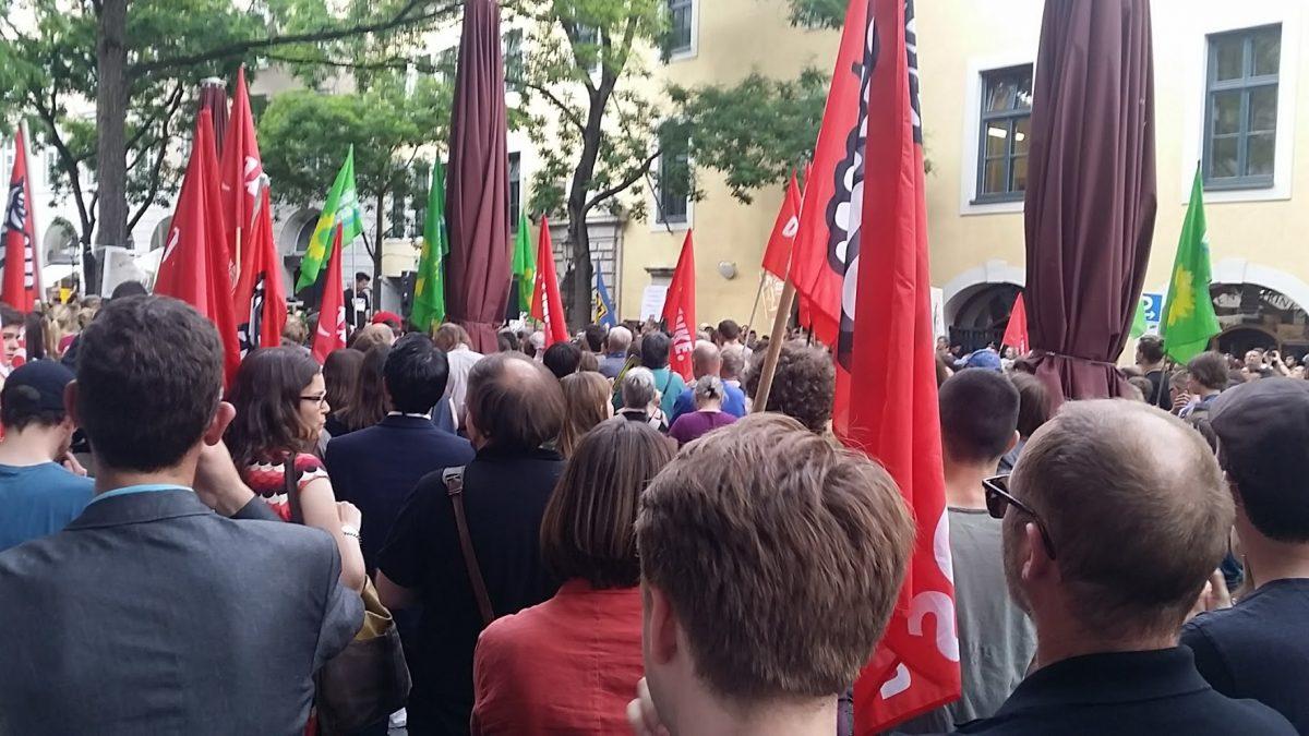 Kundgebung Kultusministerium