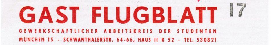 GAST-Flugblatt München