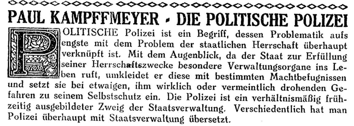 Paul Kampffmeyer-Politische Polizei